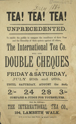 Advert for the International Tea Company